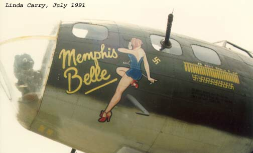 Nose art as worn for the movie.