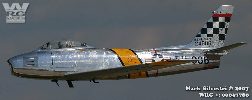 North American F-86 Sabre/52-4986